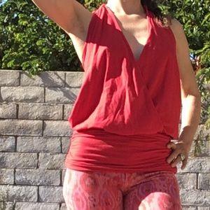 Ella Moss red backless halter top tank XS